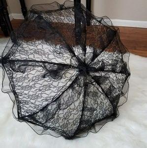Black Lace Parasol Victorian Gothic Umbrella Goth